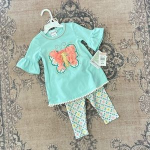 NWT! Bonnie Jean butterfly set, 2T